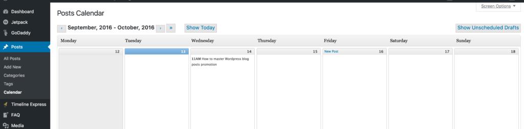 Editorial calendar wordpress plugin visual