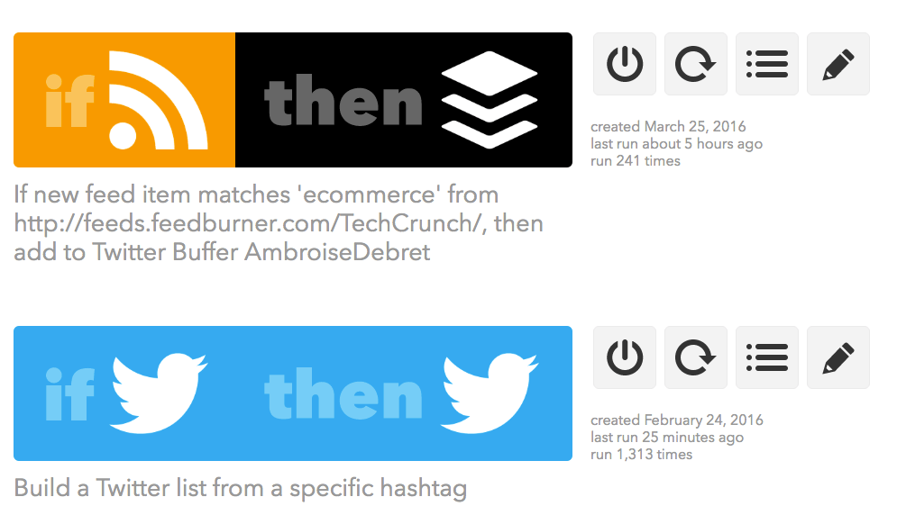 IFTTT Buffer Twitter