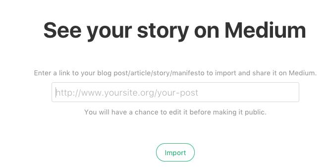 Medium import a story