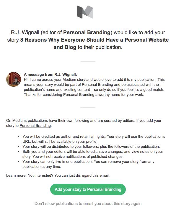 Publication Medium personal branding