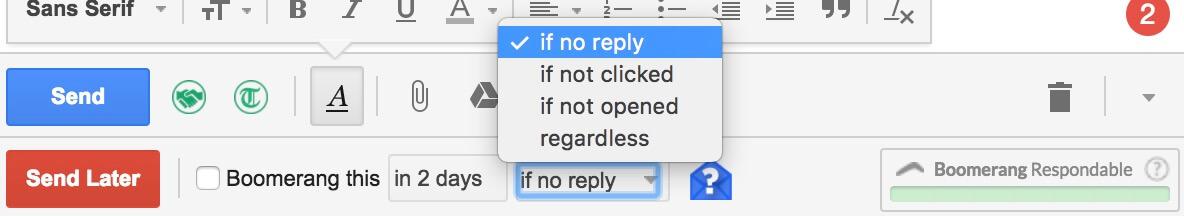boomerang gmail no reply