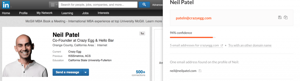 Neil Patel email address