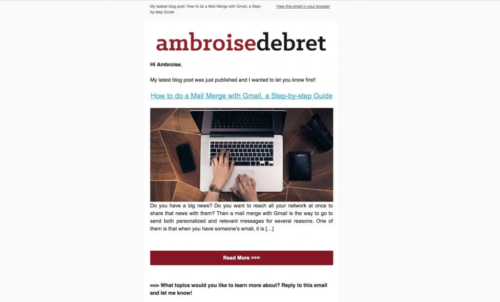 email template html