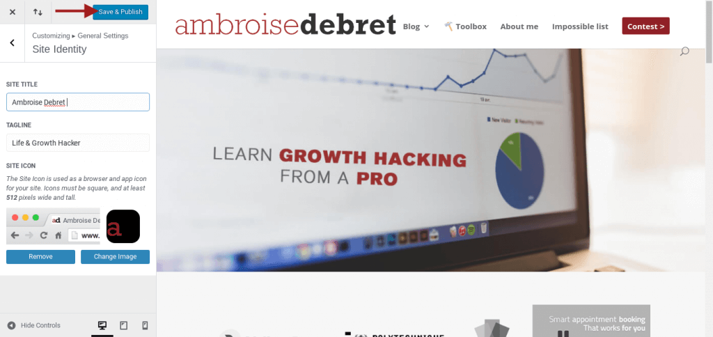 customize WordPress website