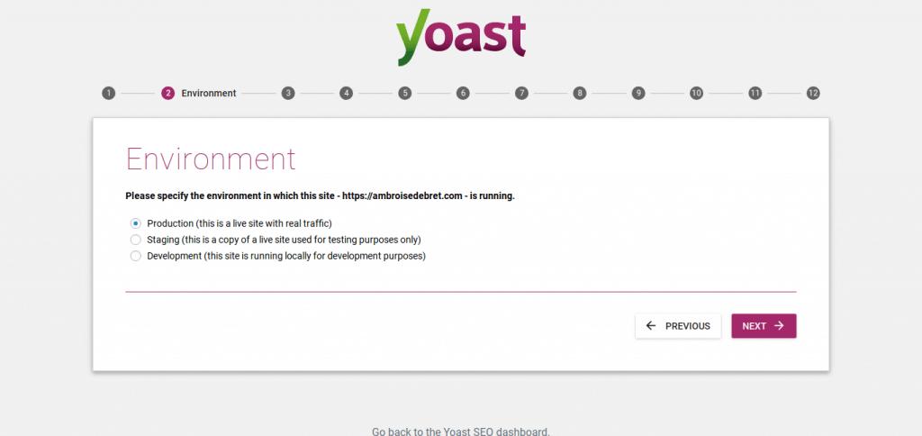 yoast environment