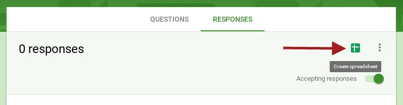 Google Form create spreadsheet
